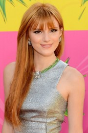 bella thorne long copper straight