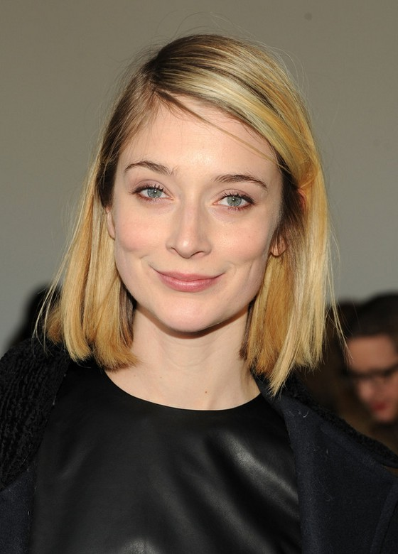 Caitlin Fitzgerald Medium Straight Blonde Bob Styles Weekly