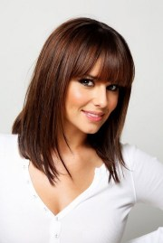 cheryl cole medium straight hairstyle