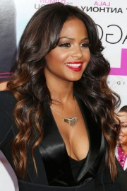 christina milian highlighted long