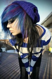 colorful emo hairstyle girls
