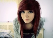 cute emo girl with long hairstyles