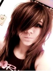 cute emo hairstyle with long bangs