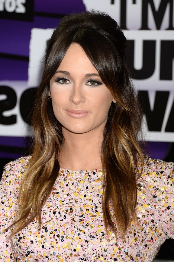 Kacey Musgraves Brown To Blonde Ombre Half Up Half Down