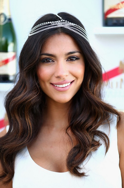 Pia Miller Romantic Long Wedding Hairstyle With Waves