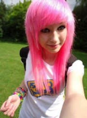 pink scene hairstyle long hair