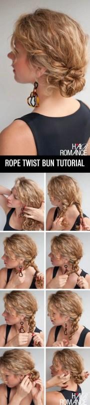 curly diy hairdo & quick buns
