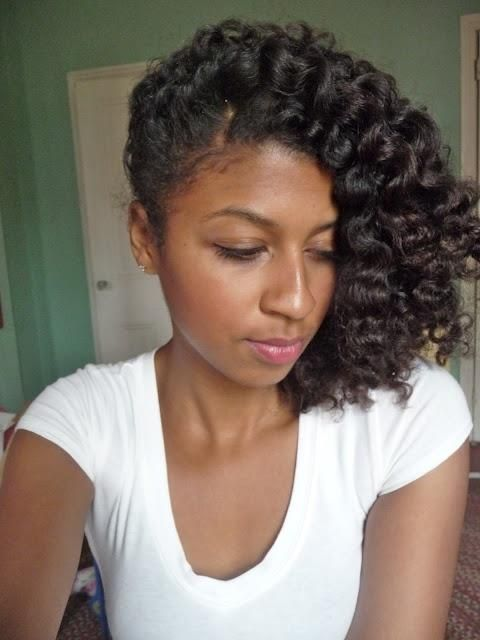 Curly Hairstyle for Black Women with Medium Hair