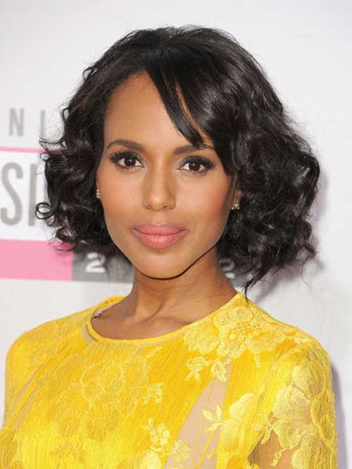 Short Wavy Curly Hairstyle for Black Women