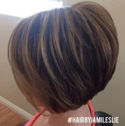 side view of layered bob hairstyle