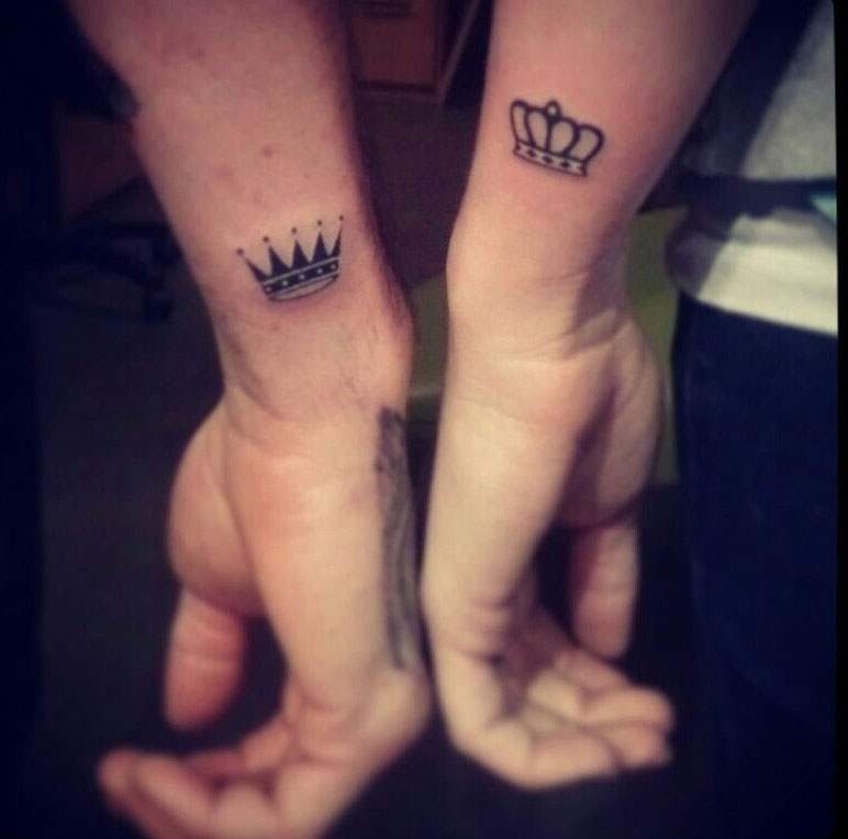 Small Crown Tattoo Men