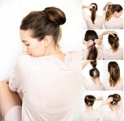 simple stylish updo hairstyle