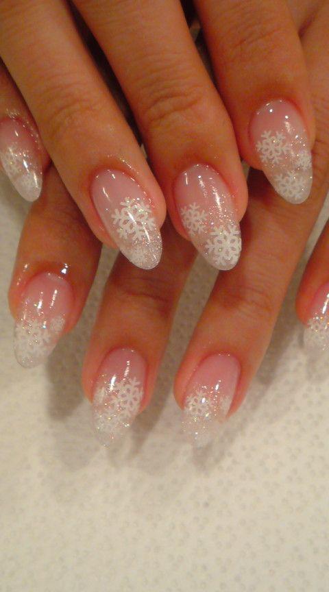 Snowflake French Nails