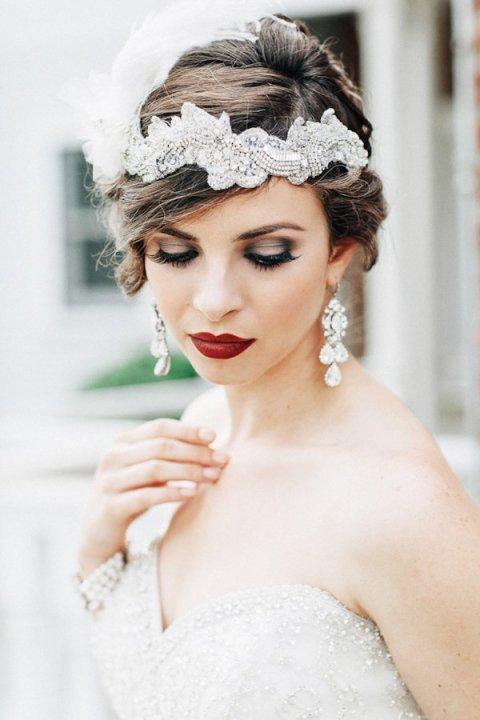 Vintage Makeup Idea for Brides