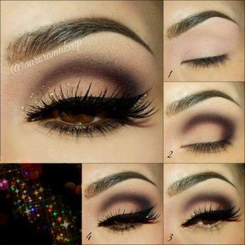 Chic Shimmer Eye Makeup Idea