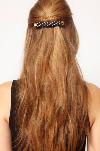 Half Do Hairstyles With Barrettes Half Hair Trend 2017