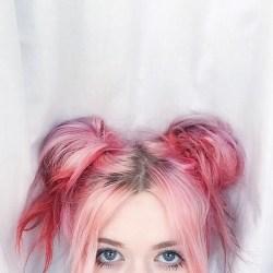 pink hair pastel bubblegum cute colors aesthetic hairstyles summer eyes buns space pretty favim prettiest rainbow