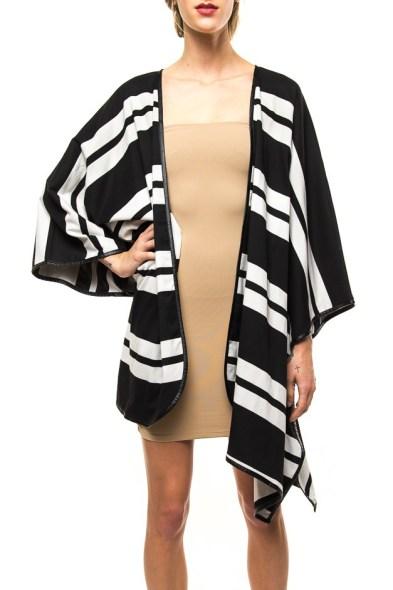 Striped cape jacket