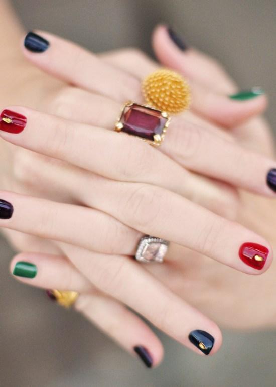 Jewel-Colored Nail Hues