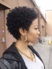 cute curly and natural short