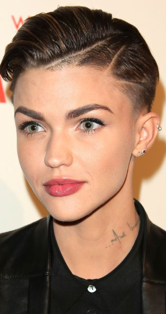 Ruby Rose Super Short Hairstyle With Clipper Design