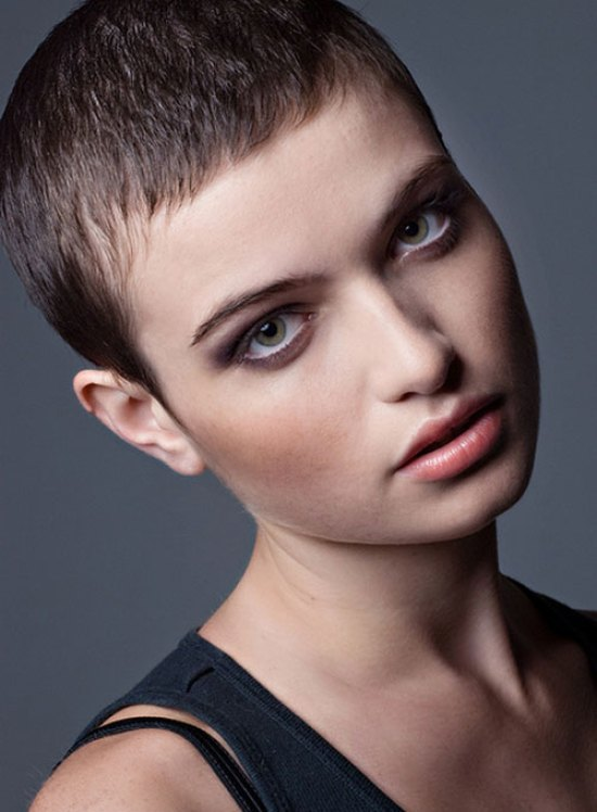 Super Short Hairstyle For Thin Straight Hair