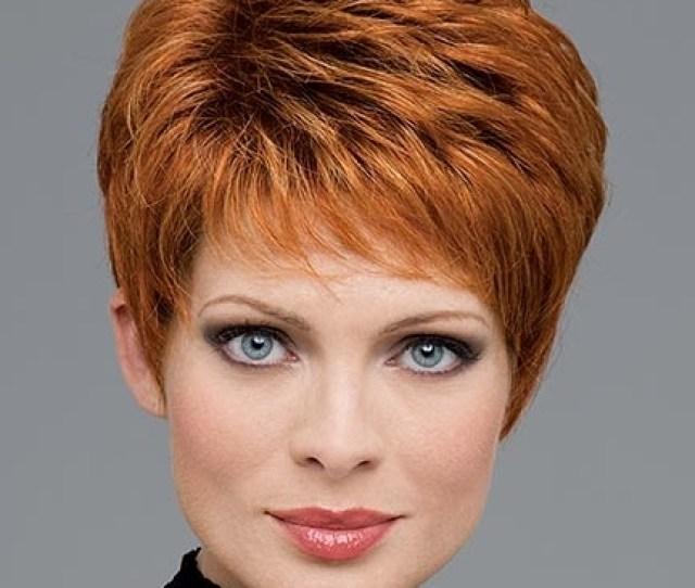 Auburn Short Haircut For Women Over
