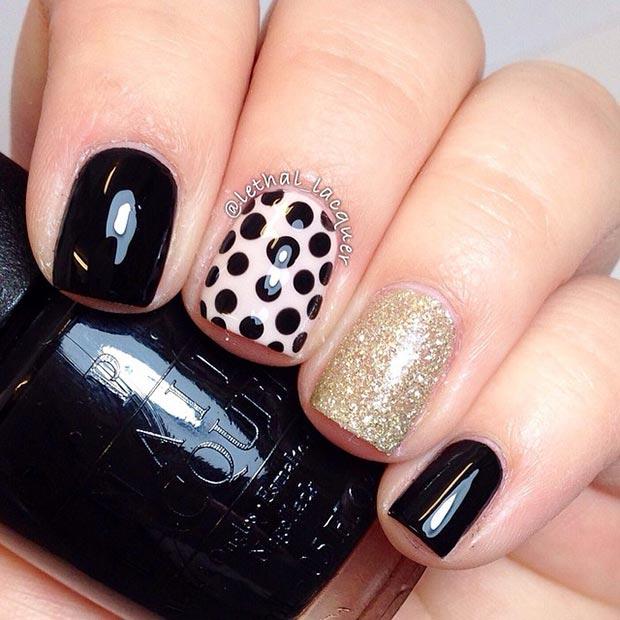 Prev Next Polka Cute Nail Designs For Short Nails