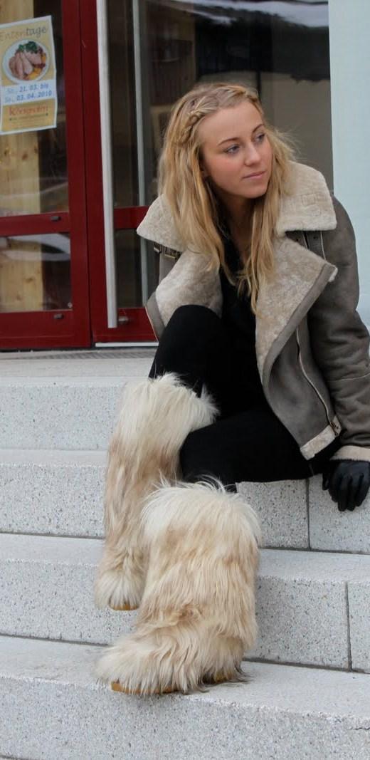 furry booties