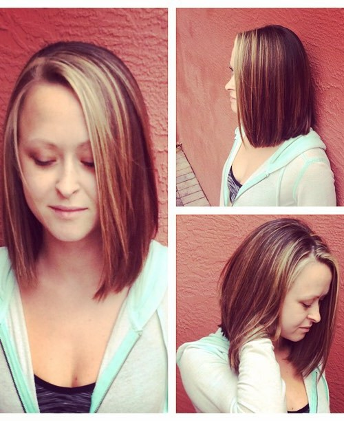 A-line Bob hairstyle for oval face shapes