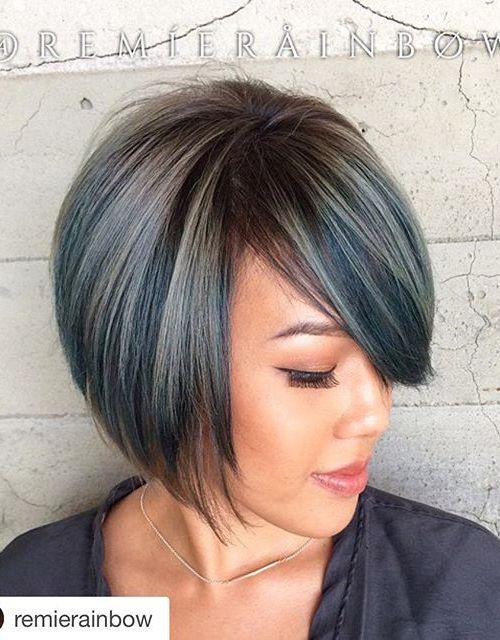 Fashion A-line Bob Haircut with bangs for short hair