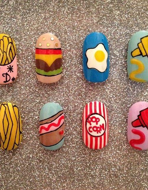 Interesting Food Nail Design