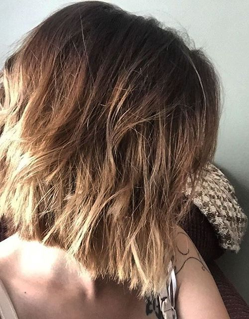 Medium Messy Bob Hairstyle with layers