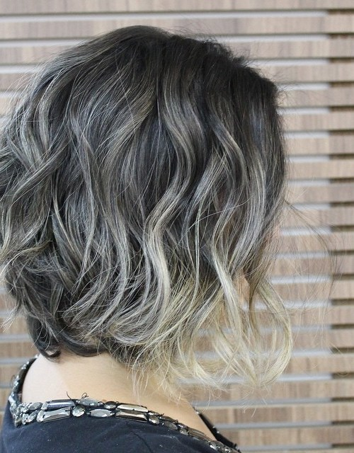 trendy soft wavy messy bob haircut