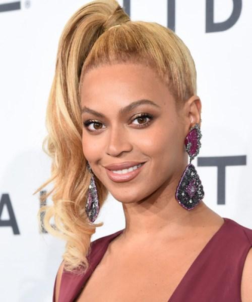 Beyonce Knowles Side Ponytail