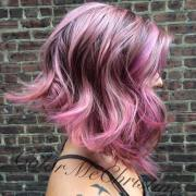 trendy hair color pretty pink
