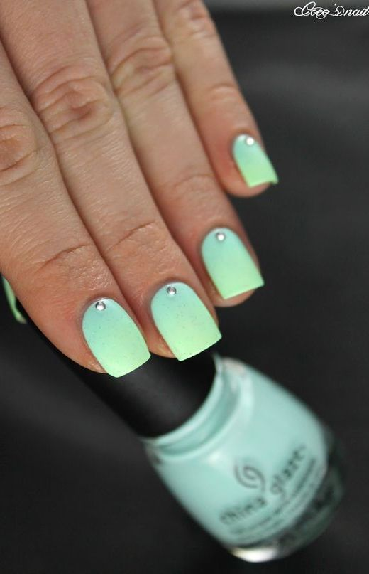 17 fashionable mint nail designs for summer crazyforus simple yet stylish mint nail design prinsesfo Gallery
