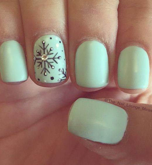 17 fashionable mint nail designs for summer crazyforus mint nail with flake ornament prinsesfo Gallery