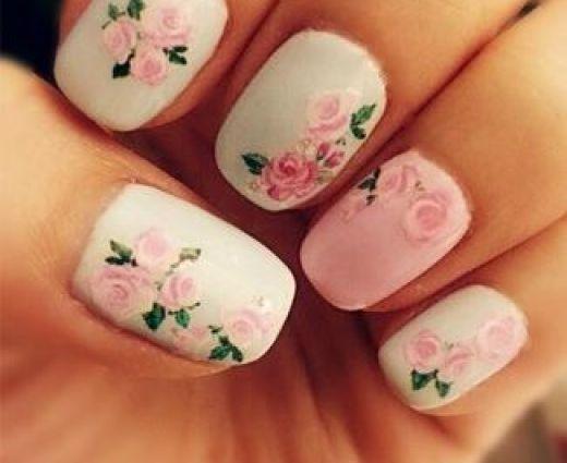 18 Vintage Floral Nail Designs You Will Love Crazyforus