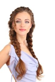 chic double braided hairstyles