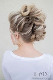 fashionable french twist updo