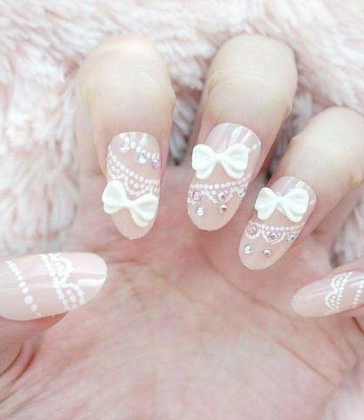 Adorable Bow Nail Design