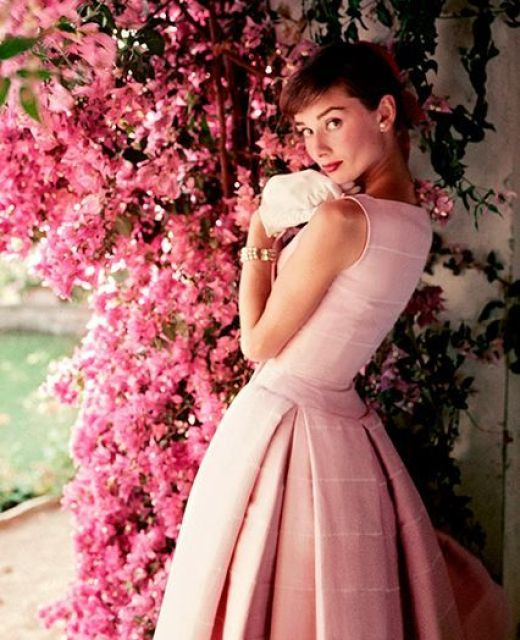 Audrey Hepburn Stylish Way to Wear Pink This Summer