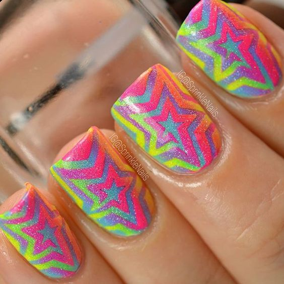 17 stunning star nail designs for fashionistas crazyforus 17 stunning star nail designs for fashionistas prinsesfo Images