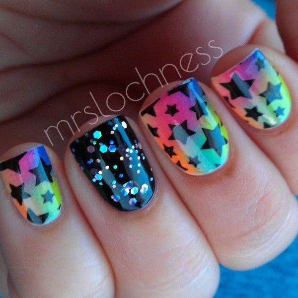 Stunning Star Nail Designs for Fashionistas - 17 Stunning Star Nail Designs For Fashionistas - Crazyforus