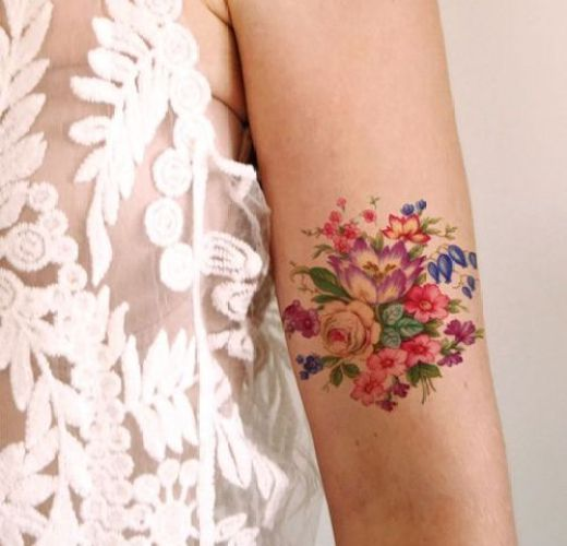 Gorgeous Flower Tattoo Design