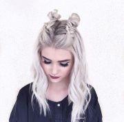 super cute space bun hairstyles