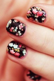 fascinating floral nail design