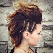 cute short hairstyle with braids