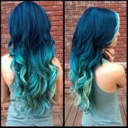 trendy blue ombre hairstyles
